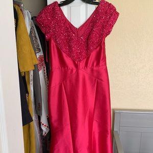 Pink A-line dress